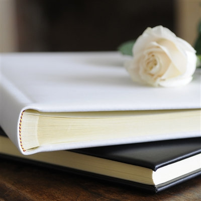 Handmade Luxurious Ivory Leather Album - 50 Pages