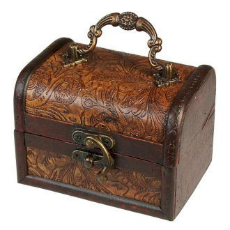 Vintage Style Boxes - Med/Lrg Colonial Box, Floral Embossed