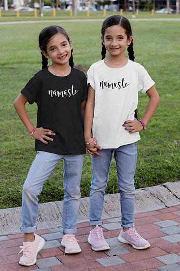 Kid's Vegan Yoga T-Shirt - Namaste