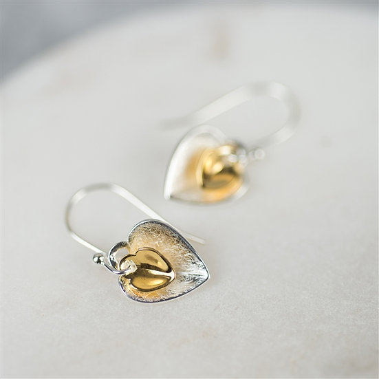 Handmade Double Heart Earrings