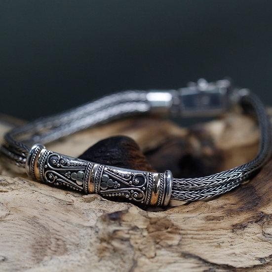 Handmade Silver & Gold Mixed Bracelet