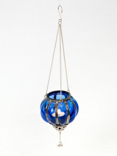 Blue Hanging Tealight Holder