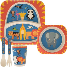 Bamboo Baby Dinner Set - Zoo Animals