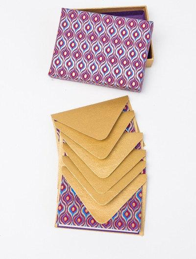 Handmade Purple Lotus Eyes Boxed Notelets