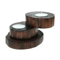 Recycled Teak Root Candle Holders 2