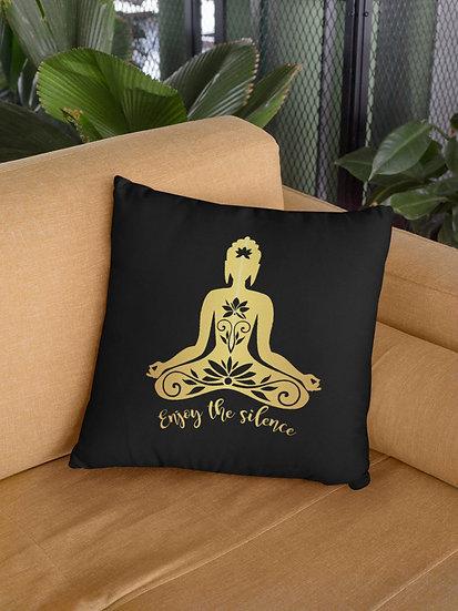 Vegan Yoga Cushion - Enjoy The Silence