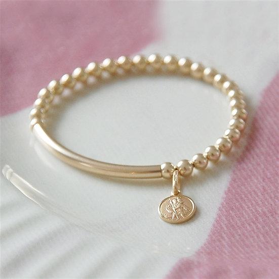 Gold St Christopher Baby Bracelet