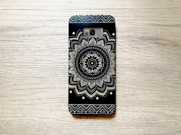 Real Wood Engraved Phone Cover - Mandala