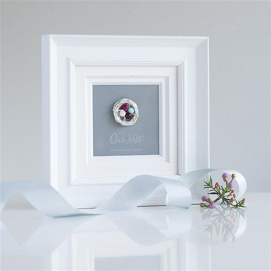 Handmade Personalised Birthstone Frame