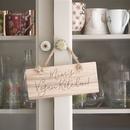 Personalised Solid Oak Kitchen Sign
