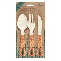 Bamboo Cutlery Set - Gordan Giraffe