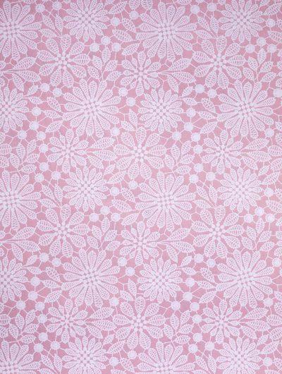 Pink Handmade Lace Print individual Gift Wrap