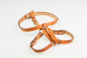 Felican Harnais cuir maron hand sewed