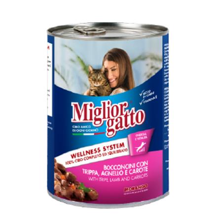 Miglior gatto Trippa/Agnello/carote 405gr