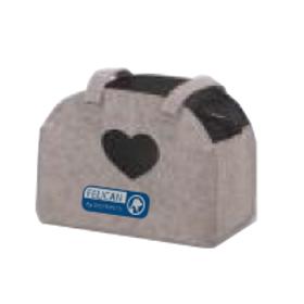Felican sac de transport GREY LINE HEART
