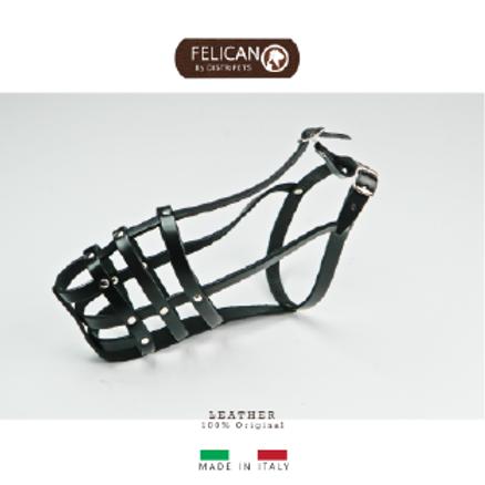 Felican Muselière cuir noir