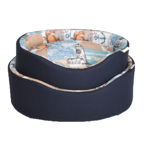 """Fabotex Cuccia Ovale Lux """"Crabs"""" c/doppio cuscino 48/54 cm"""