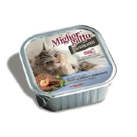 Miglior Gatto Sterilised Barquette poisson & crevette