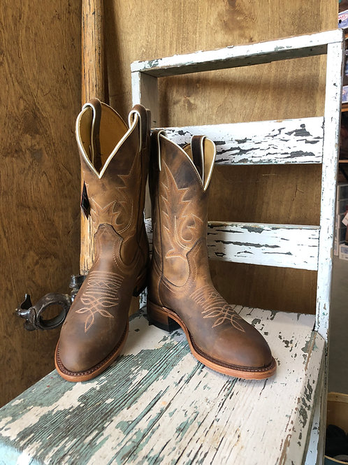 Boulet ladie Round Toe Cowboy Boot with Rider Sole