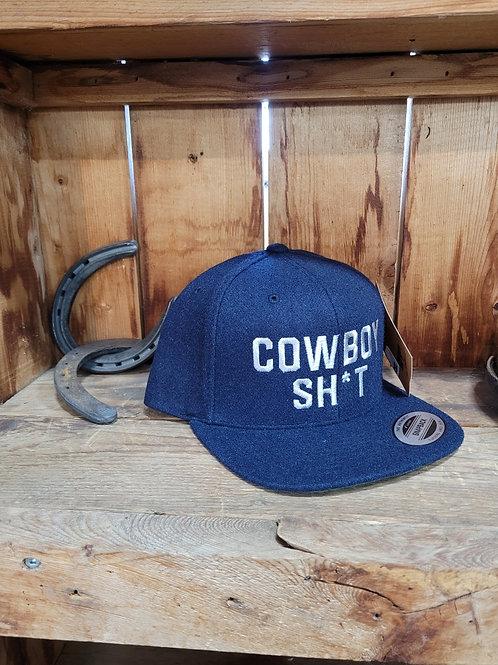 COWBOY SH*T NAVY WOOL SNAPBACK