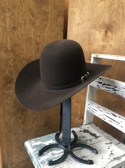 American Hat Co. 10x Chocolate Felt Open Crown HT1171]