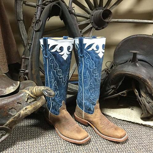 "Anderson Bean 16"" Mad Dog Blue Handmade Boot"