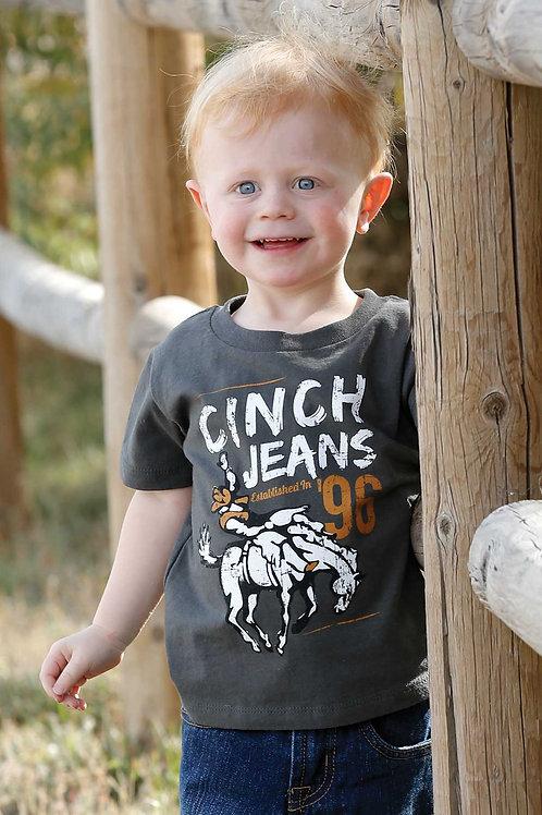 CINCH BOYS CHARCOAL TSHIRT