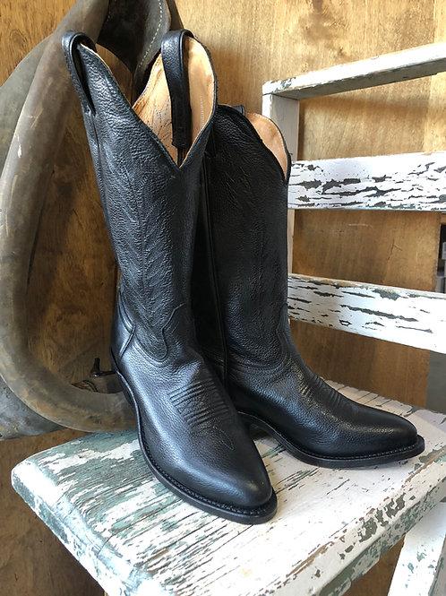 Boulet Ladies' Western Boots Leather Sporty Black Deertan 4074