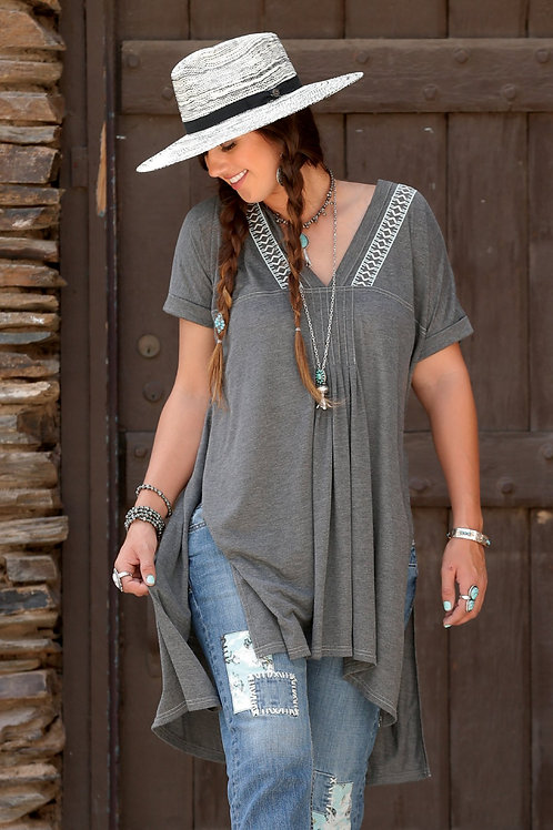 Cruel LADIES HEATHER GRAY TUNIC