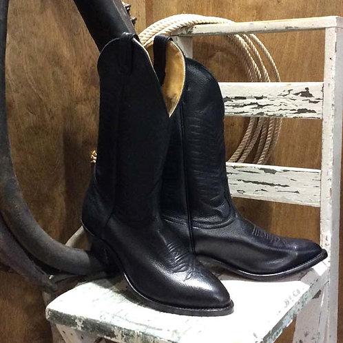 """Boulet Men's Medium Toe Western Boot13"""" 9502 Black Deer tan"""