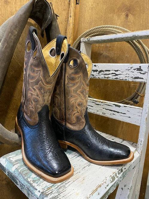 Boulet 9339 Mens Natural Rowdy Wide Square Toe Cowboy Boot