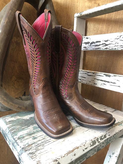 Ariat® Ladies Quickdraw VentTEK Barn Brown Western Boot 10019904