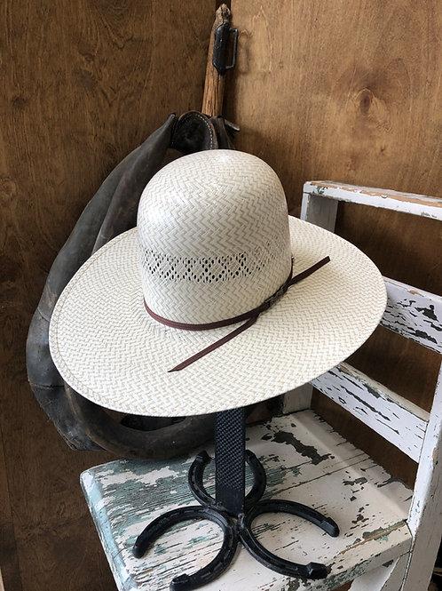 American Hat Straw 5500 Fancy Vent & Weave - Ivory / Tan ZigZag