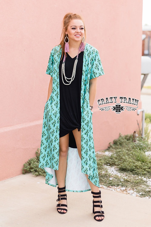 Crazy Train CACTUS DUSTER WITH POCKETS