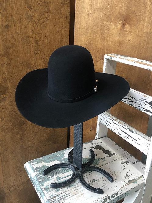American Hat Co. 20x Black Felt Hat Open Crown [HT1172]