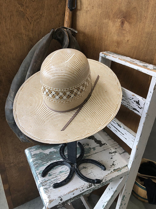 American Hat Straw 1044 Two Tone Vented Ivory - Chocolate