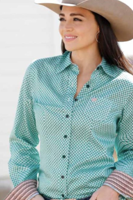 Ladies CINCH long sleeve western shirt MSW9164133
