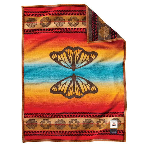 PENDLETON THE COLLEGE FUND CRIB BLANKET BUTTERFLY