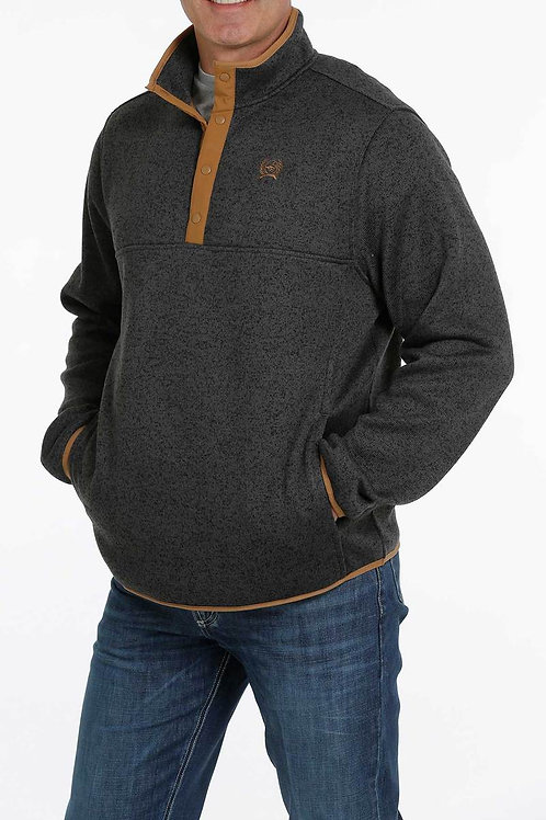 CINCH MENS CHARCOAL PULL OVER