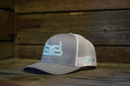 BAREDOWN BRAND GREY/TURQUOISE CAP