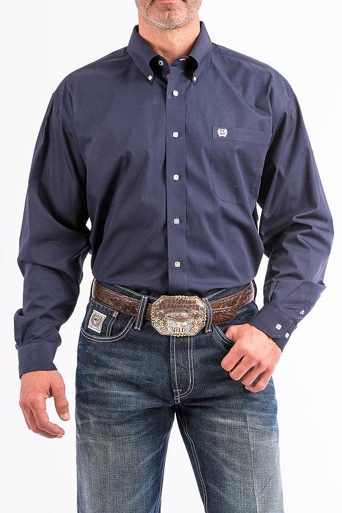 Cinch MTW1104667 Men's Shirts - Solid Navy Western Button-Down W/ Pocket