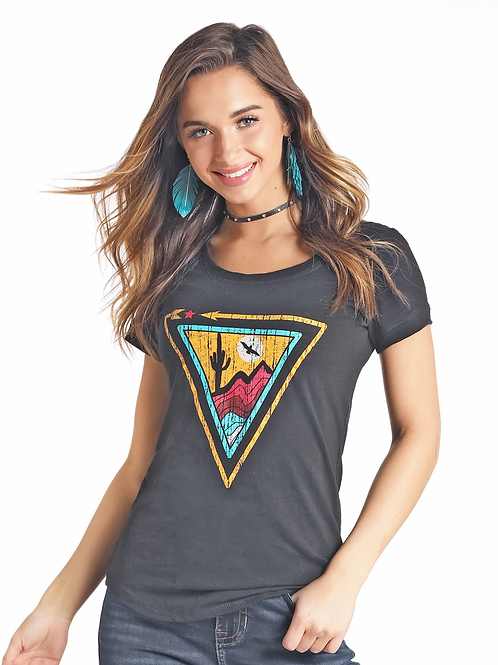 ROCK & ROLL COWGIRL GRAPHIC TEE