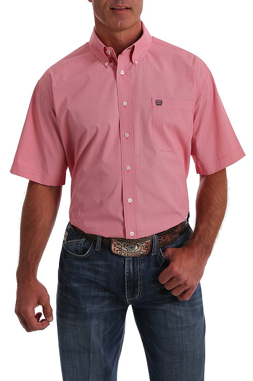 Cinch MENS SHORT SLEEVE CORAL MICRO-GEO PRINT
