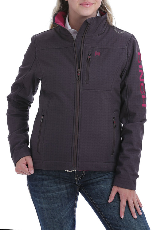 CINCH LADIES BROWN SOFTSHELL JACKET