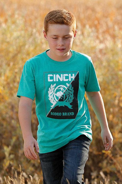 CINCH BOYS TEAL TSHIRT