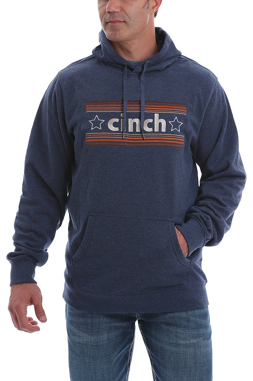 CINCH MEN'S HEATHER NAVY SWEATER