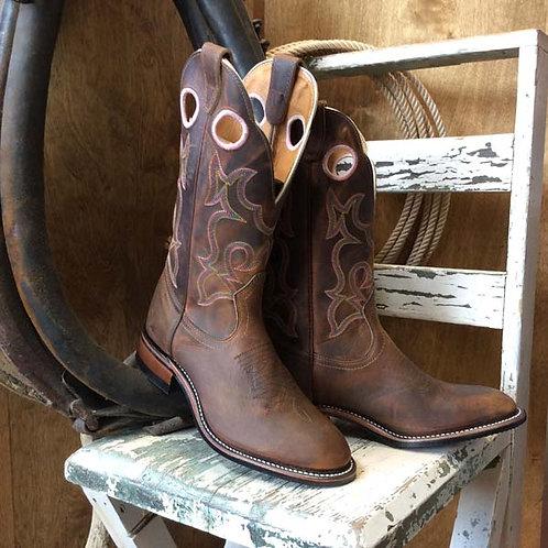 BOULET Ladies 0297 Brown Round toe ladies Roper Boot