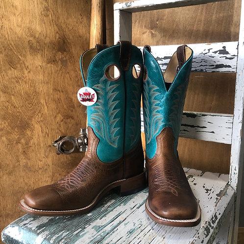 Women's Boulet 7745 Brown Challenger, Realflex Sole, Square Toe,Stockman heel