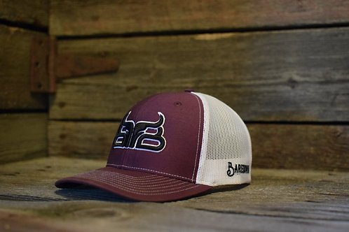BAREDOWN BRAND MAROON/BLACK CAP