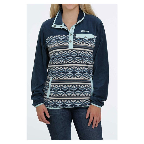 CINCH WOMENS TEAL AZTEC PULLOVER